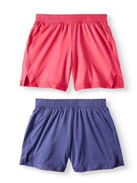 Active Mesh Shorts, 2-Pack (Little Girls & Big Girls)