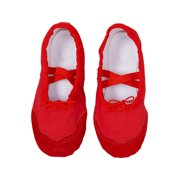 75a31d55bdc Wenchoice Little Girls Red Elastic Strap Stylish Ballet Shoes