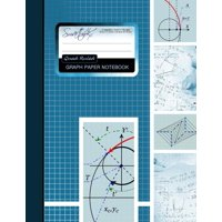 """Graph Paper Notebook: Squared Graphing Paper * Blank Quad Ruled * Large (8.5"""" X 11"""") * Softback"""
