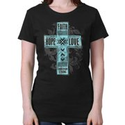ad72ea87871 Faith Hope Love Jesus Christ Christian Shirt