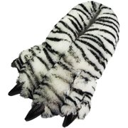 54c35650e31 Norty Grizzly Bear Stuffed Animal Claw Slippers - Plush Paw Slippers -  Furry Fuzzy Soft Plush