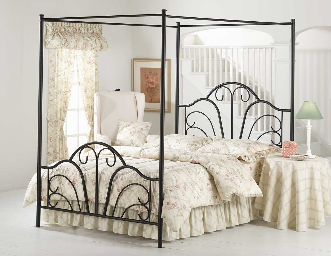 Hillsdale Dover Canopy Bed in Textured Black - [King]  sc 1 st  Walmart & Canopy Bed Frames