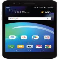 AT&T PREPAID LG Phoenix 4 16GB Prepaid Smartphone, Black – Get UNLIMITED DATA. Details below.