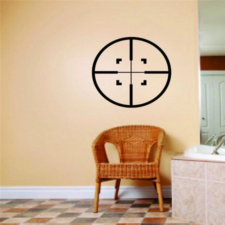 Bullseye Hunting Combo (Wall Design Pieces Hunting Bullseye Design Gun Shooting Range Deer Hunter Hobby Adhesive 8 X 8 Inches)