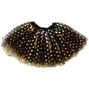 e9c5833543c So Sydney Adult Plus Kids Size GOLD POLKA DOT TUTU SKIRT Costume Dress Up