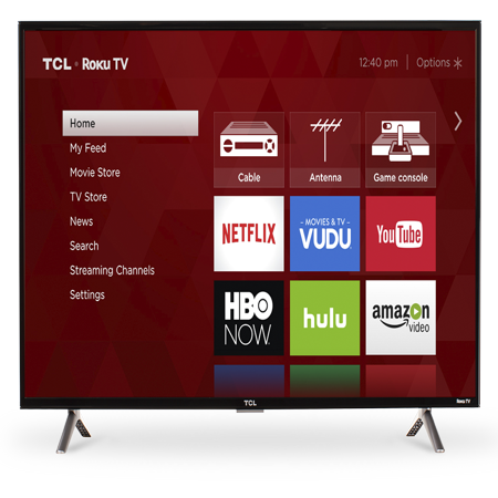 "TCL 40"" Class FHD (1080P) Roku Smart LED TV (40S305)"