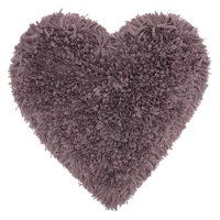"Nourison Frame Heart Shag Decorative Throw Pillow, 18"" x 18"", Lavender"