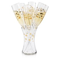 Artland Stars Floral Champagne Set, 7 Pieces