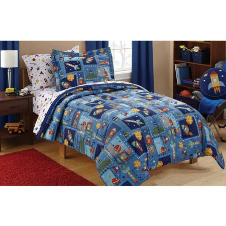 Mainstays Kids Space Coordinated Bed in a Bag, 1 Each