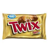 (2 Pack) Twix, Caramel Fun Size Chocolate Cookie Halloween Candy Bar, 20.62 Oz