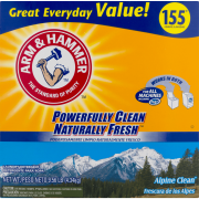 Arm & Hammer Powder Laundry Detergent, Alpine Clean, 185 loads (bucket)