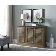 Mason Antique Wash Wood Rustic Sideboard Buffet Console Table With Storage Cabinets & Shelves