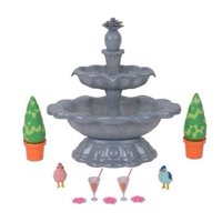 My life as 10-piece real working blue sparkle fountain play set