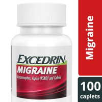 Excedrin Migraine Caplets for Migraine Headache Relief, 100 count