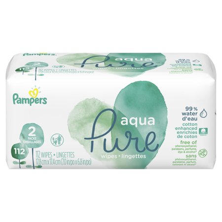 Pampers Aqua Pure Sensitive Baby Wipes 2X Pop-Top 112