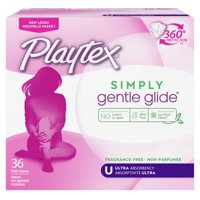 Playtex Simply Gentle Glide Unscented Tampons, Ultra Absorbency, 36 Ct