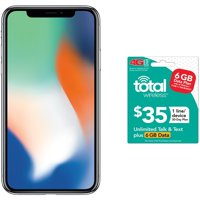 Total Wireless Apple iPhone X Bundle with $35 airtime, Gray