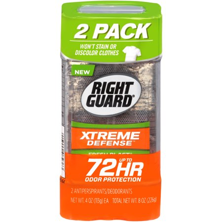 Right Guard Xtreme Defense 5 Antiperspirant Deodorant Gel, Fresh Blast, 4 Ounce (Pack of