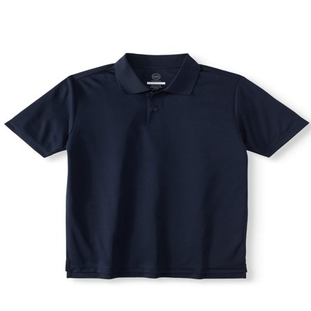Boys School Uniform Short Sleeve Performance Polo ()