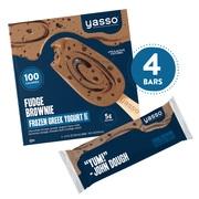 Yasso Frozen Greek Yogurt, Fudge Brownie Bars, 4 Count
