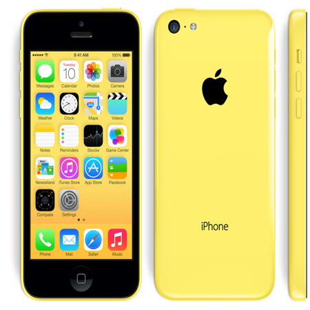 Refurbished Apple iPhone 5c 8GB, Yellow - Unlocked (Apple Iphone 5c 8 Gb Yellow Unlocked)