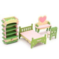 Toys Dollhouse Furniture Doll Accessories Wooden Dolls House Miniature Accessory Room Furniture Set Kids Pretend Play Toys Today's Special Offer!