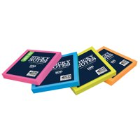 (4 Pack) Pen+Gear Self Stick Notes, 3 in. x 3 in., 1 Pad, Assorted Neon Collection - Color May Vary