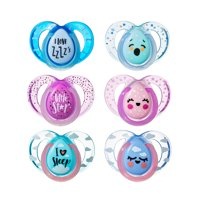 Tommee Tippee Closer to Nature Night Time Baby Pacifiers 6-18 months - 2 count (Colors May Vary)