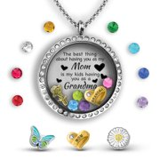 ff4eecdc6 Grandma Gifts For Mothers Day For Mom From Daughter   Mother Daughter  Necklace Floating Locket Necklace