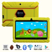 """Contixo 7"""" Kids Tablet K2   Android 6.0 Bluetooth WiFi Camera for Children Infant Toddlers Kids Parental Control w/Kid-Proof Protective Case (Blue)"""
