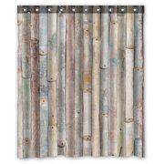 ZKGK Rustic Old Barn Wood Waterproof Shower Curtain Bathroom Decor Sets With Hooks 66x72 Inches