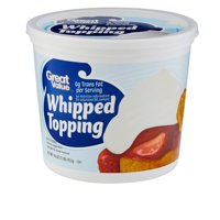 Great Value Whipped Topping, Whipped Topping with a Light, Creamy Texture, 16 Ounces