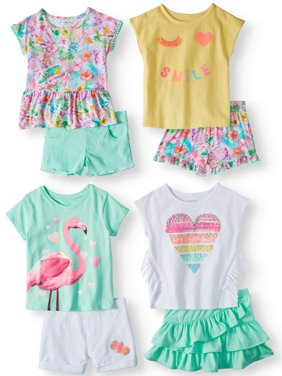 Mix & Match Outfits Kid-Pack Gift Box, 8pc Set (Toddler Girls)