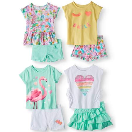Garanimals Mix & Match Outfits Kid-Pack Gift Box, 8pc Set (Toddler - Powerpuff Girls Outfit
