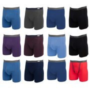 12bd287912 Fruit of the Loom (12 Pack Mens Underwear Cotton Boxer Briefs with Fly Soft  Comfortable