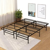 Platform Bed Frame Queen Metal Base Mattress Foundation Heavy Duty Steel Replaces Box Spring