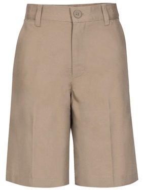 Boys Husky Size Flat Front Shorts School Uniform Approved