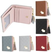 5f737ed748 Women Girl Leather Purse Card Holder Wallet Clutch Zip Small Change Coin  Key Bag