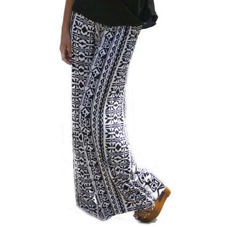 - Women Pant Floral Print Loose Boho Harem Wide Leg Pants Palazzo Yoga Trousers