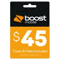 Boost Mobile $45 Re-Boost Card (Email Delivery)