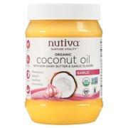 Nutiva Organic Garlic & Butter Flavor Coconut Oil, 29 fl oz