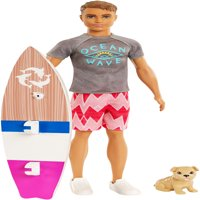 Barbie Dolphin Magic Ken Doll with Puppy & Surfboard