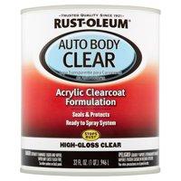Rust-Oleum Auto Body Clear Acrylic Clearcoat Formulation High-Gloss Clear, 32 fl oz