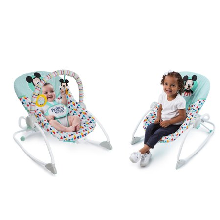 Disney Baby Mickey Mouse Infant to Toddler Rocker Seat - Happy Triangles](Mickey Mouse Baby Items)