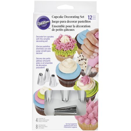 Wilton Cupcake Decorating Icing Tips, 12-Piece Set](Cupcake Decorating Ideas)
