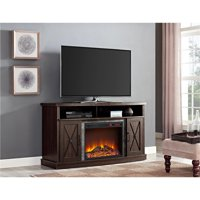 "Ameriwood Home Barrow Creek Electric Fireplace TV Stand for TVs up to 60"" Espresso"