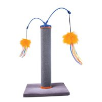 SmartyKat® Scratch 'N Spin™ Carpet Post Cat Scratcher with Wands, 18.5 Inch