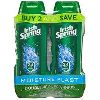 Irish Spring Moisture Blast Moisturizing Body Wash, 18 Oz, 2 Ct