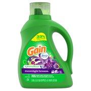 Gain Liquid Laundry Detergent with Febreze Freshness, Moonlight Breeze, 64 Loads 100 fl oz