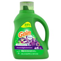 Gain Liquid Laundry Detergent with Febreze Freshness, Moonlight Breeze, 64 Loads 100 fl oz
